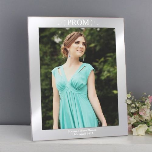 Personalised Prom Night Silver 10x8 Photo Frame